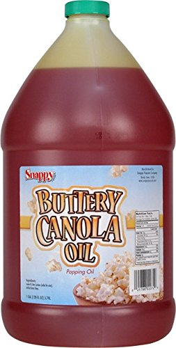 (Snappy Popcorn 1 Gallon Snappy Buttery Canola Oil, 9 Pound )