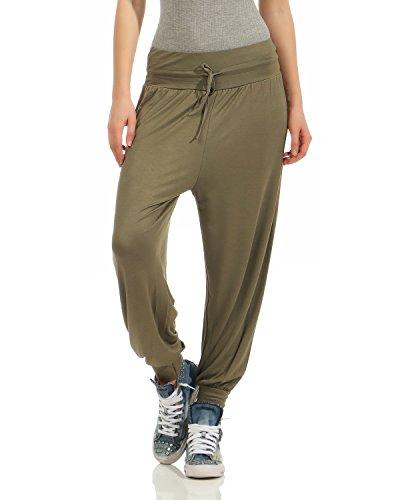 Zarmexx Donna Estivi Ballo Casual Pantaloni Da Harem Stile Aladdin Esercito Yoga qTwP41Brq