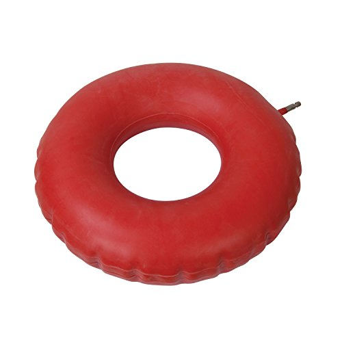 Drive-Medical-Inflatable-Rubber-Cushion-Red
