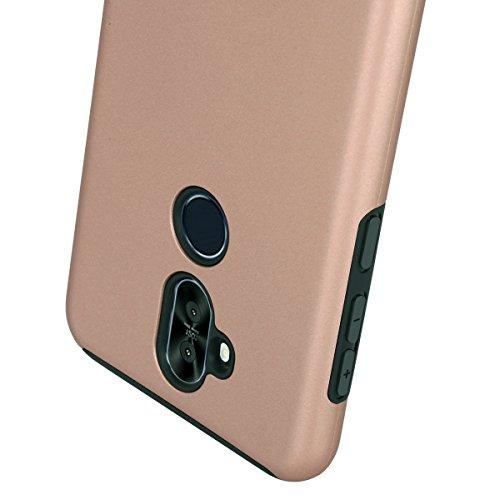 Asus ZenFone ZC600KL Case, Zenfone 5Q Dual Layer Rubber Armor Hard Plastic PC + Soft TPU Shockproof Protective Case For Asus ZenFone 5 Lite zc600kl Phone Case 6.0 Inches (rose golden)