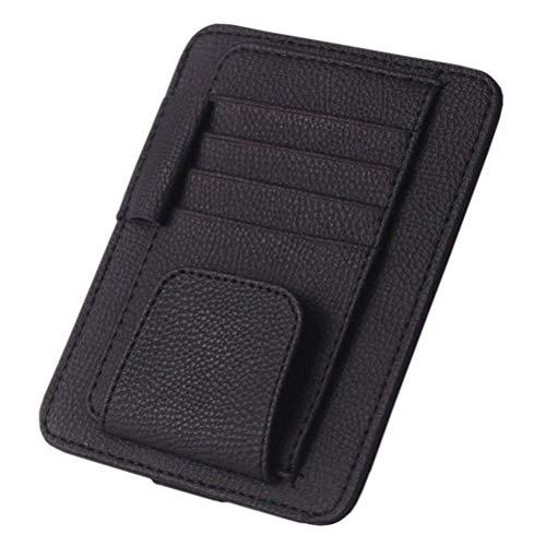 Yolu Car Sun Visor Organizer, Muti-Functional Auto Visor Storage, Handy Accessories Document Holder Pouch Bag, Interior Accessories Pocket Organizer (Black)