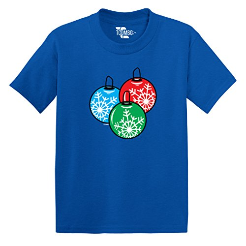 Christmas Ball Ornaments - Snowflakes - TODDLER Little Boy / INFANT T-shirt (6M, ROYAL BLUE)