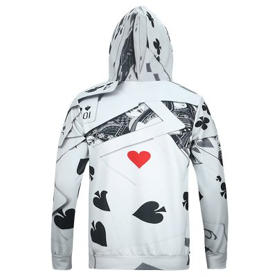 CTKJ 2019 Autumn and Winter New Mens 3D Printing Sweatshirt Hooded Casual Tide Brand Womens Pullover Sweater Couple