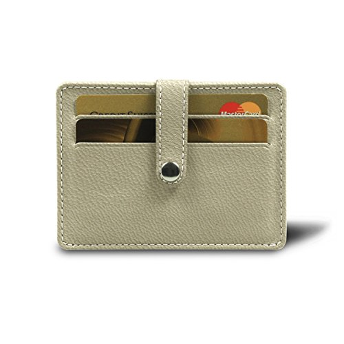 Lucrin   Credit Card Wallet For 8 Cards   Off White   Goat Leather