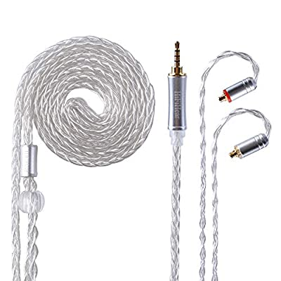 Better Upgraded Silver Plate Replacement Cable?8 Core Headset Braided silver plated Wire Upgrade Earphone Cable for SHURE 846 535 215 315 425 MAGAOSI K5 LZ A4 A5 etc from Better