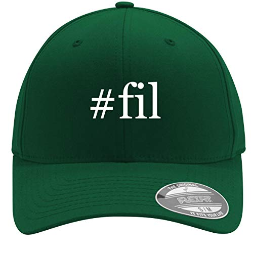 #fil - Adult Men's Hashtag Flexfit Baseball Hat Cap, Forest, Small/Medium