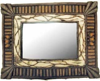 Birch & Twig Wall-Mounted Mirror 19 Inches (Vertical or Horizontal)