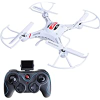 ANNONGONE JJRC H8CH 2.4G 4CH 6-Axis Gyro HD 2.0MP Camera RC Quadcopter Drone RTF Hover White