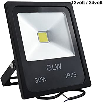 LED 12V 24V Flood Lights 30W AC or DC Warm White Led Outdoor Light Waterproof Landscape Lighting 3000lm 180w Halogen Bulb Equivalent