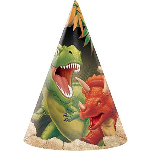 Dinosaur Party Hats, 24 ct