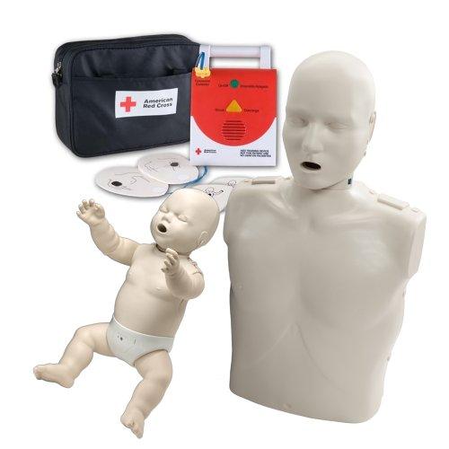 CPR Instructor Basic Starter Kit - 1 Adult Prestan Manikin, 1 Infant Prestan Manikin and 1 Universal AED Trainer