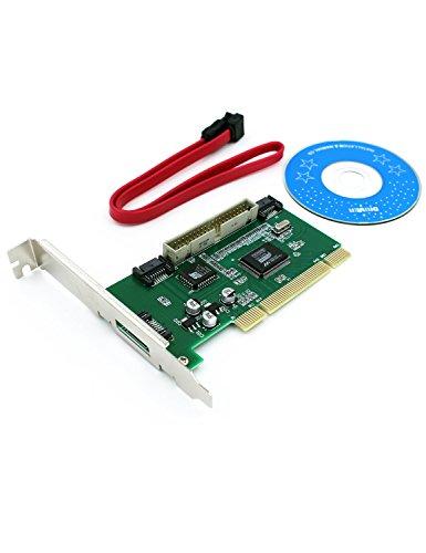 Aiposen VIA VT6421A 3-Port SATA and IDE PCI Controller Card w/RAID (Ultra 4 Raid Controller)