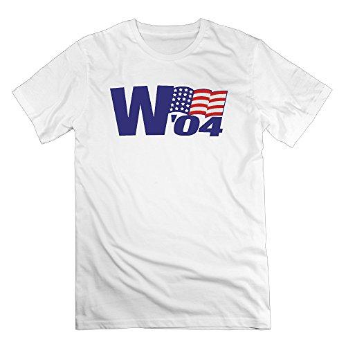 Mens George W  Bush Vintage 04 Campaign Cotton Short Sleeve T Shirts