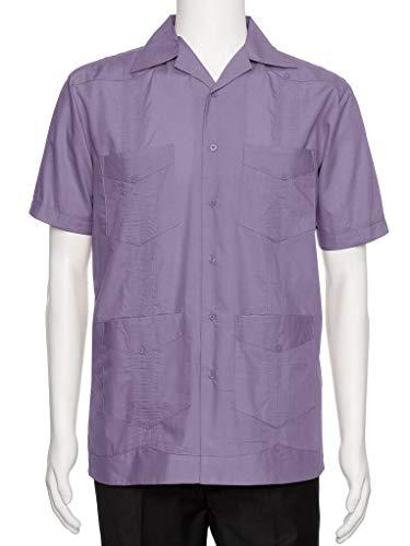 Gentlemens Collection Mens Short Sleeve Cotton Blend Guayabera Shirt