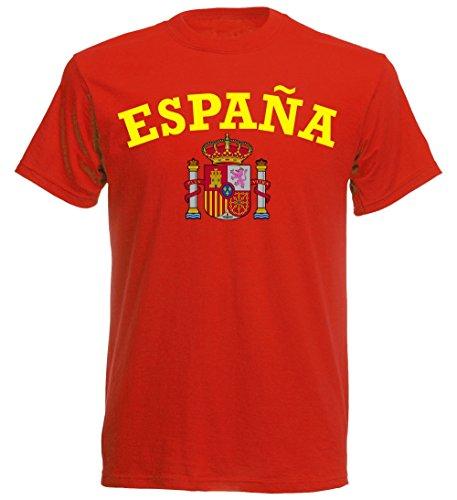 Spanien EM 2016 T-Shirt España - S M L XL XXL - rot nc-002