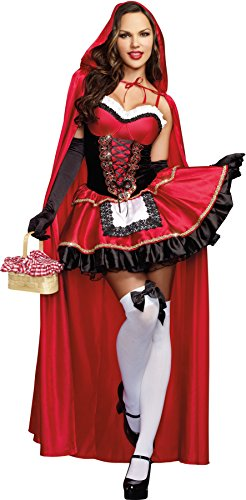 Sexy Miss Little Red Riding Hood Fairytale Womens Corset Dress (Little Miss Riding Hood)