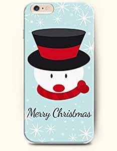 OFFIT iPhone 6 Plus Case 5.5 Inches the Head of Snowman - Merry Christmas by supermalls
