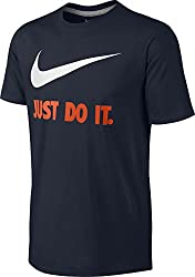 Nike Men's New Just Do It Jdi Swoosh T-shirt, Dark Obsidian, Xl