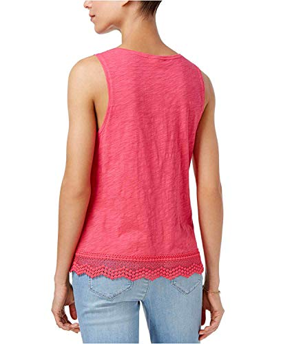 Buy maison jules womens crochet pleated tank top