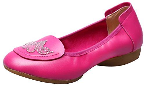 Abby 885-1 Kvinna Komfort Praktiken Nybörjare Balsal Rumba Stängd Tå Platta Mysiga Slip-on Mary Jane Mjuk Sula Dans Sneakers Pink-a