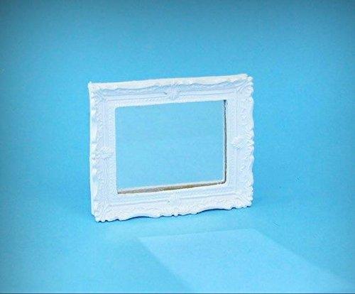 1:12 Dollhouse Miniature Decorative White Shabby Chic Framed Mirror #WCMA111 - My Mini Fairy Garden Dollhouse Accessories for Outdoor or House Decor (Framed Shabby)