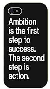 iPhone 6 Ambition is the first step to success. The second step is action - black plastic case / Life, dreamer's inspirational and motivational quotes
