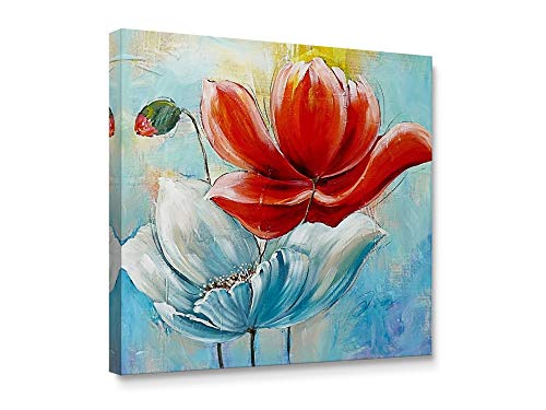 - Niwo Art - Red Poppies, Flower Canvas Wall Art Home Decor,Framed Ready to Hang