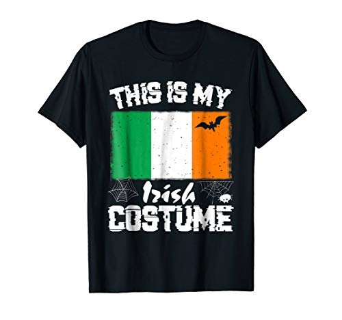 This is My Halloween Irish Costume T-Shirt Ireland Flag]()