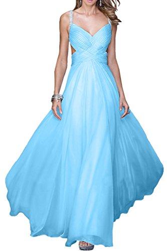 Missdressy - Vestido - trapecio - para mujer azul celeste