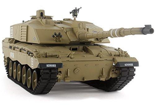 2.4Ghz 1/16 British Challenger 2 Air Soft RC Battle Tank Smoke & Sound (Upgrade Version w/ Metal Gear & Tracks)