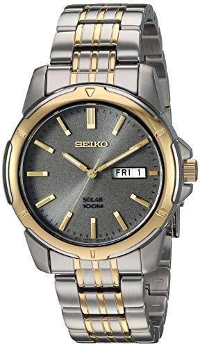 Seiko Men's SNE098 Two-Tone Stainless Steel ()