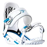 Chamonix Cornu Mens Snowboard Bindings White/Blue Sz L (9-13)