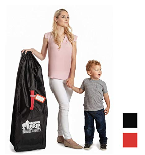 Gorilla Grip Umbrella Stroller Bag with Pouch, for Airplane Travel, Free Luggage Tag, Easy Carry, Universal Size Bags Fits Most Umbrella Strollers, for Airport Flying with Toddler Kids, Gate Check