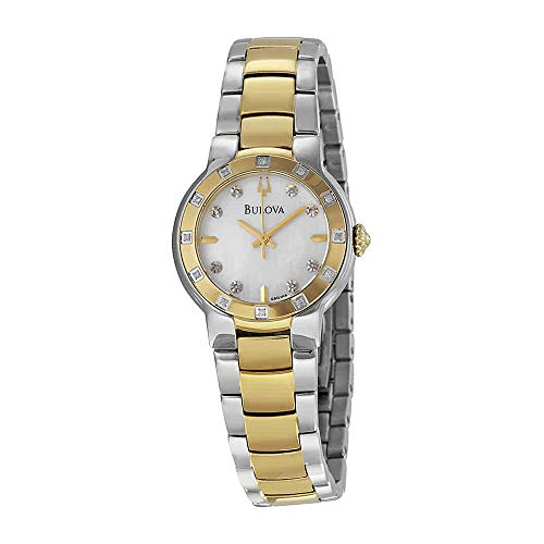 Bulova Women's 98R168 MOP Diamond Dial Tu-Tone Bracelet Watch