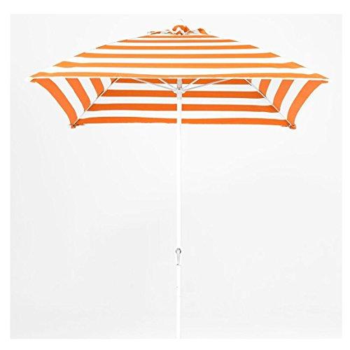 Square Fiberglass Market Umbrella - 7.5 ft. Square Commercial Grade Fiberglass Market Umbrella with Acrylic Fabric, Aluminum Pole, Crank Auto Tilt
