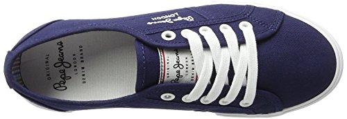 Pepe Jeans London Aberlady Basic 17, Zapatillas para Mujer Azul (Marine)