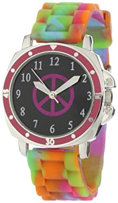 Frenzy Kids' FR303 Mood Dial Peace Analog Multi Jelly Watch