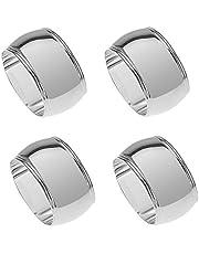 silberkanne Serviettenringe 4 TLG Frankfurt oval 4x3 cm Silber Plated versilbert in Premium Verarbeitung