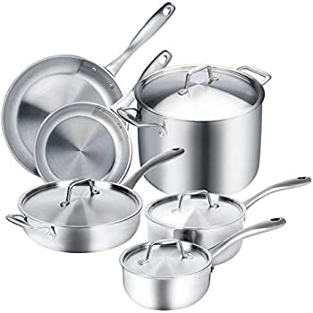 Amazon Com Duxtop Whole Clad Tri Ply Stainless Steel