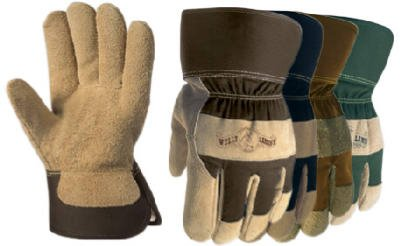 Wells Lamont Leather Palm Gloves Split Cowhide Large Shirred - Lamont Corp Cowhide Wells Glove