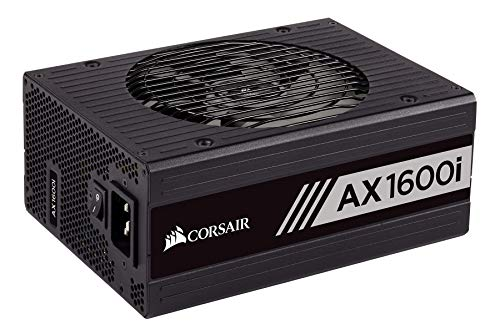 - CORSAIR AXi Series, AX1600i, 1600 Watt, 80+ Titanium Certified, Fully Modular - Digital Power Supply