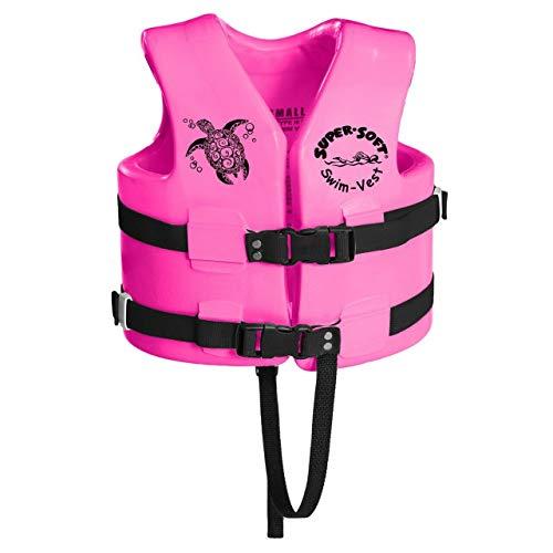 MRT SUPPLY Super Soft USCG Childs Foam Swim Vest, XS, Flamingo Pink with Ebook