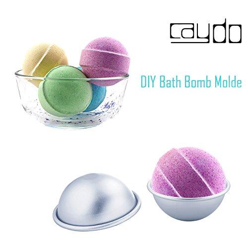 Caydo 6 Set Diy Metal Bath Bomb Mold With 3 Sizes 12