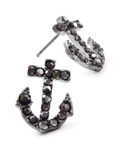- Sparkling Gunmetal Black Crystal Embellished 3/4