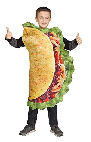 Fun World Unisex Taco Costume, Multicolor, One Size -