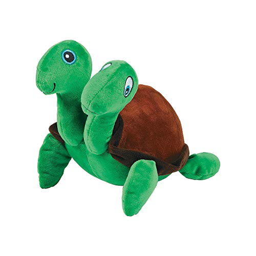 (Fun Express - Plush Two Headed Turtle - Toys - Plush - Stuffed Reptile & Insect - 1 Piece)