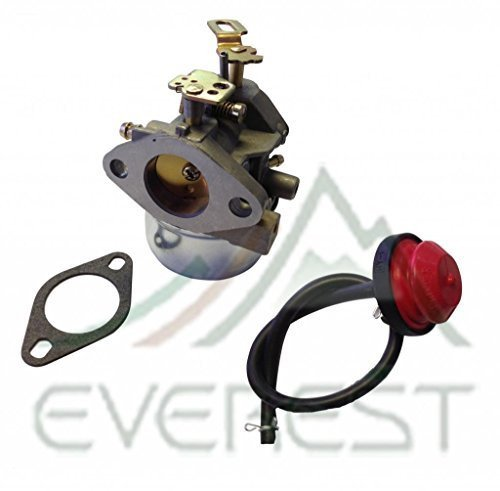 NEW CARBURETOR WITH GASKET REPLACES TECUMSEH 640349 640052 640054 8hp 9hp 10hp LH318SA LH358SA CARBURETOR WITH PRIMER BULB & FUEL LINE by EVEREST