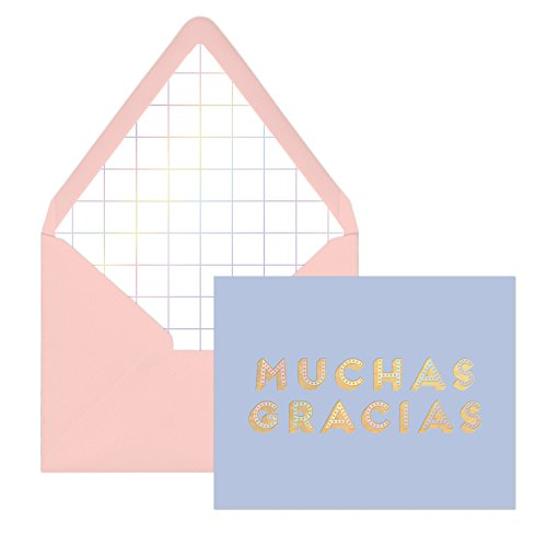 DesignWorks Ink Boxed Blank Thank You Cards, Iridescent Muchas Gracias ()