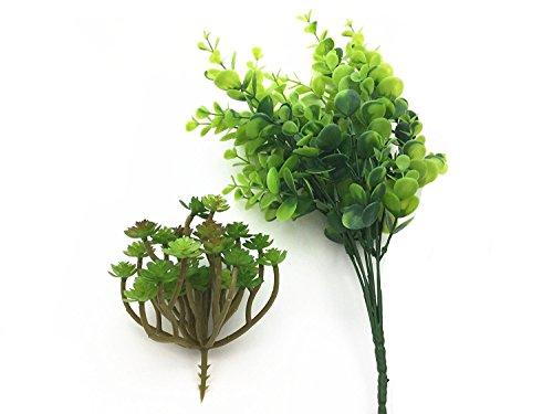 A Little Lemon 2 set of Artificial Succulent Plants Tall eucalyptus Plant combination,Artificial Plant (7.5' Outdoor Storage Shed)