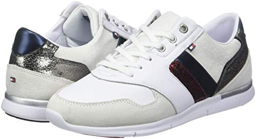 Blanc Leather Sneakers Femme Tommy Sneaker Light 020 Basses Hilfiger rwb 64qxw0Zf70